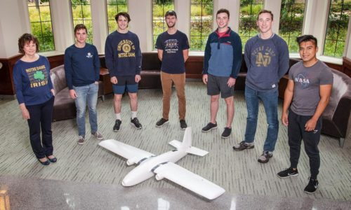 Notre Dame student team wins NASA research award for drone scoop and grab technology