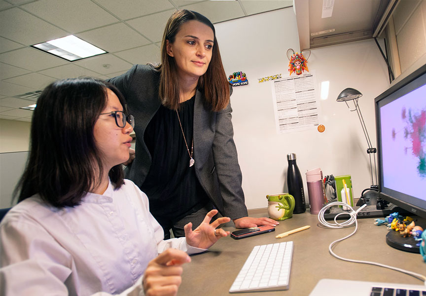 Prof. Tijana Milenkovic with graduate student