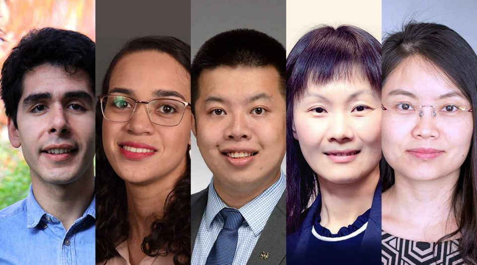 Collage of 5 new CSE faculty